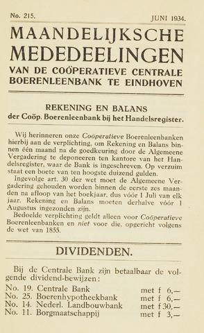 blad 'Maandelijkse Mededelingen' (CCB) 1934-06-01
