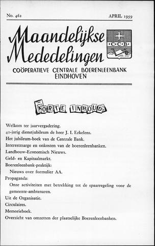 blad 'Maandelijkse Mededelingen' (CCB) 1959-04-01