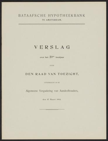 Jaarverslagen Bataafsche Hypotheekbank 1910