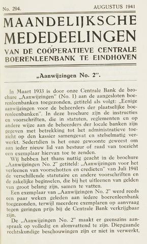 blad 'Maandelijkse Mededelingen' (CCB) 1941-08-01