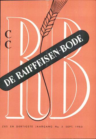 blad 'De Raiffeisen-bode' (CCRB) 1953-09-01