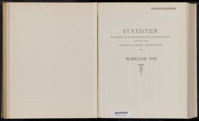 Statistiek aangesloten banken CCB 1945