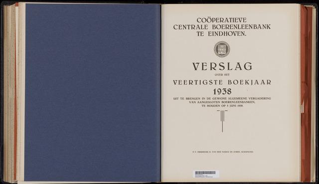 Jaarverslagen Coöperatieve Centrale Boerenleenbank 1938-12-31