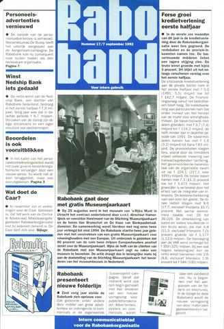 blad 'Raboband' 1992-09-07
