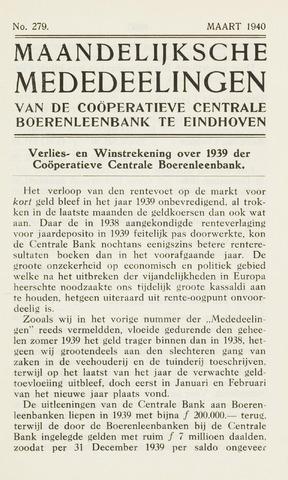 blad 'Maandelijkse Mededelingen' (CCB) 1940-03-01