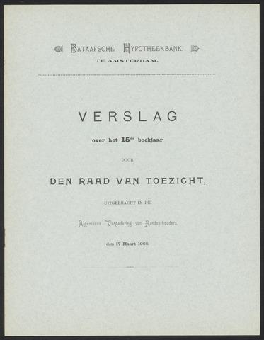 Jaarverslagen Bataafsche Hypotheekbank 1904