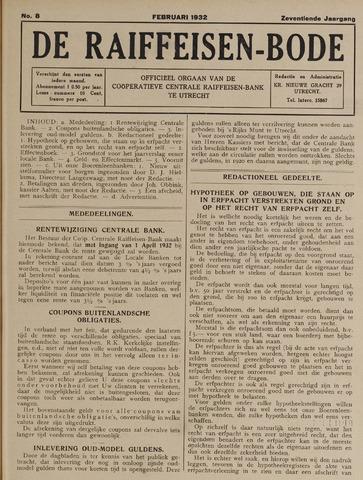 blad 'De Raiffeisen-bode' (CCRB) 1932-02-01