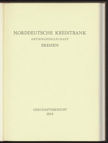 Geschäftsberichte Norddeutsche Kreditbank 1955-01-01