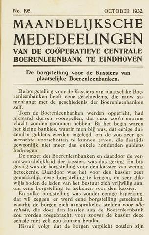 blad 'Maandelijkse Mededelingen' (CCB) 1932-10-01