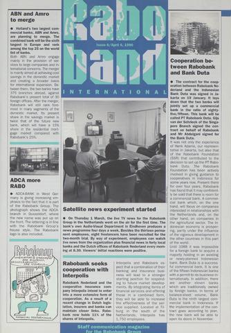 blad 'Raboband International' (EN) 1990