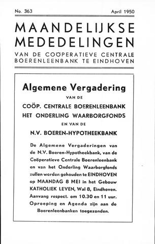 blad 'Maandelijkse Mededelingen' (CCB) 1950-04-01