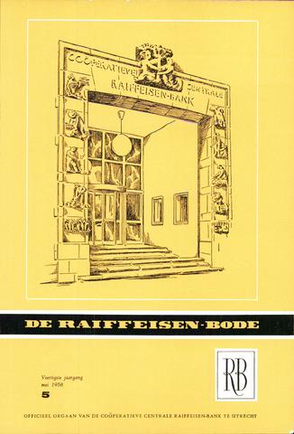 blad 'De Raiffeisen-bode' (CCRB) 1958-05-01