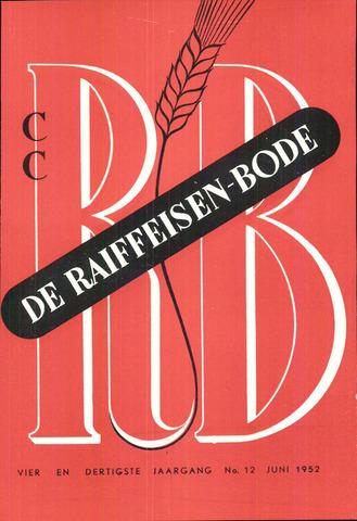 blad 'De Raiffeisen-bode' (CCRB) 1952-06-01
