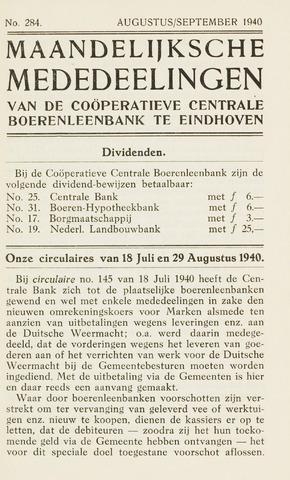 blad 'Maandelijkse Mededelingen' (CCB) 1940-08-01