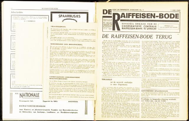 blad 'De Raiffeisen-bode' (CCRB) 1945