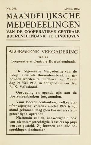 blad 'Maandelijkse Mededelingen' (CCB) 1933-04-01