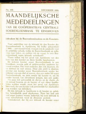 blad 'Maandelijkse Mededelingen' (CCB) 1924-12-01
