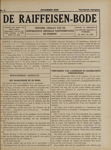 blad 'De Raiffeisen-bode' (CCRB) 1928-11-01