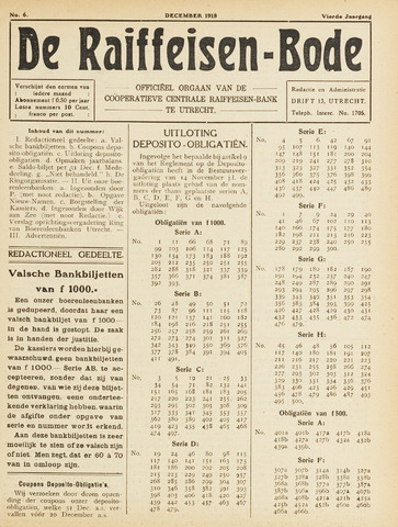blad 'De Raiffeisen-bode' (CCRB) 1918-12-01