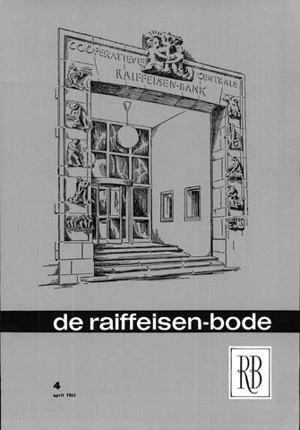 blad 'De Raiffeisen-bode' (CCRB) 1963-04-01