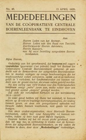 blad 'Maandelijkse Mededelingen' (CCB) 1920-04-15