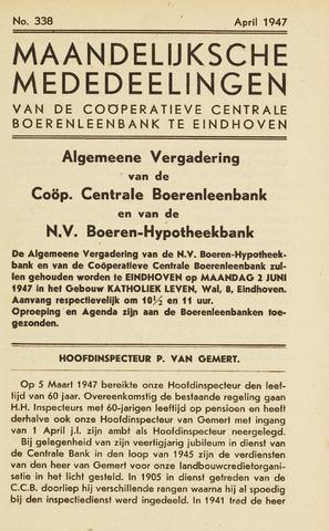 blad 'Maandelijkse Mededelingen' (CCB) 1947-04-01
