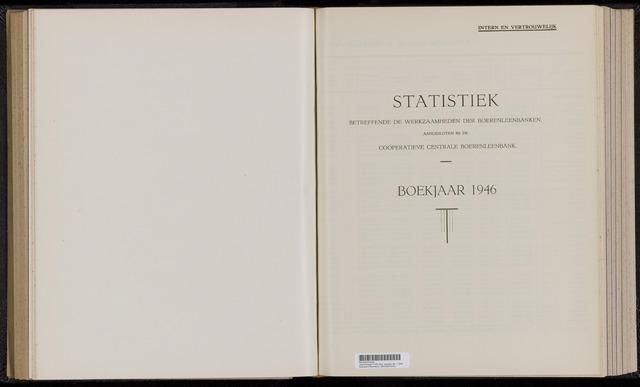Statistiek aangesloten banken CCB 1946-12-31