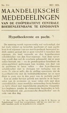 blad 'Maandelijkse Mededelingen' (CCB) 1934-05-01