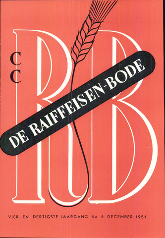 blad 'De Raiffeisen-bode' (CCRB) 1951-12-01