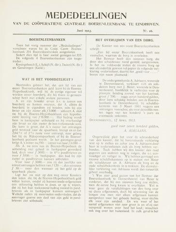 blad 'Mededeelingen' (CCB) 1913-06-01