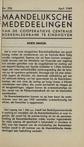 blad 'Maandelijkse Mededelingen' (CCB) 1949-04-01
