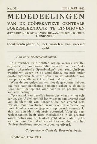 blad 'Maandelijkse Mededelingen' (CCB) 1943-02-01
