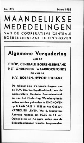 blad 'Maandelijkse Mededelingen' (CCB) 1953-03-01