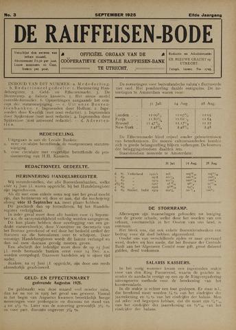 blad 'De Raiffeisen-bode' (CCRB) 1925-09-01