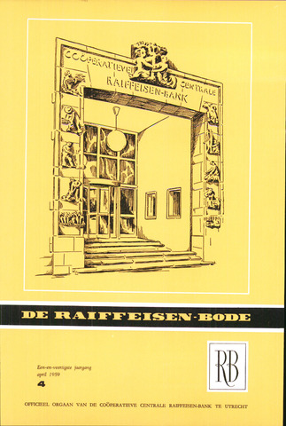 blad 'De Raiffeisen-bode' (CCRB) 1959-04-01