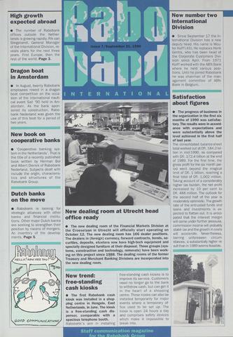 blad 'Raboband International' (EN) 1990-09-21