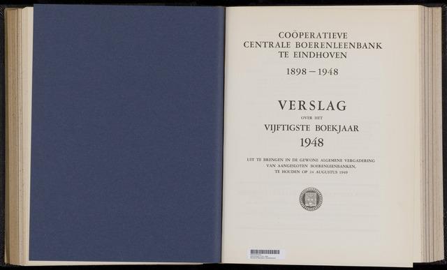 Jaarverslagen Coöperatieve Centrale Boerenleenbank 1948-12-31