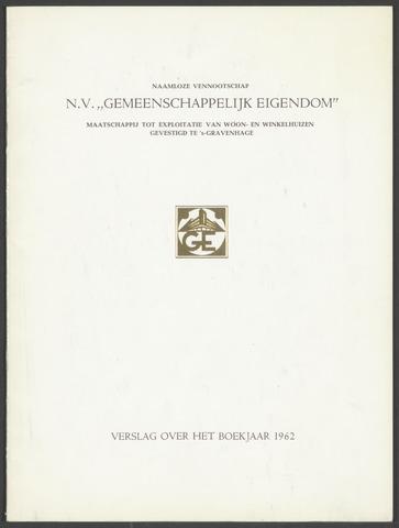 Jaarverslagen Gemeenschappelijk Eigendom 1962