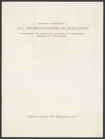 Jaarverslagen Gemeenschappelijk Eigendom 1957