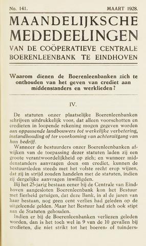 blad 'Maandelijkse Mededelingen' (CCB) 1928-03-01