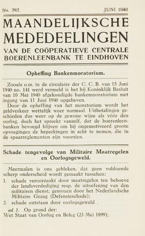 blad 'Maandelijkse Mededelingen' (CCB) 1940-06-01