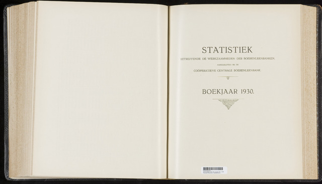 Statistiek aangesloten banken CCB 1930