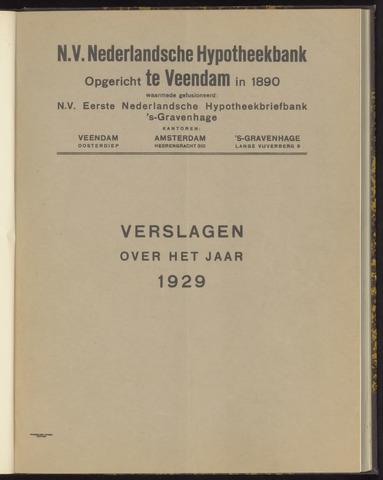 Jaarverslagen Nederlandsche Hypotheekbank 1929