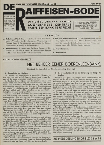 blad 'De Raiffeisen-bode' (CCRB) 1937-06-01