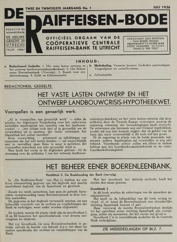 blad 'De Raiffeisen-bode' (CCRB) 1936-07-01