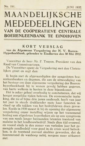 blad 'Maandelijkse Mededelingen' (CCB) 1932-06-01