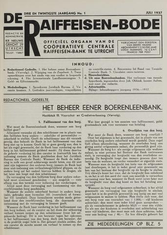 blad 'De Raiffeisen-bode' (CCRB) 1937-07-01