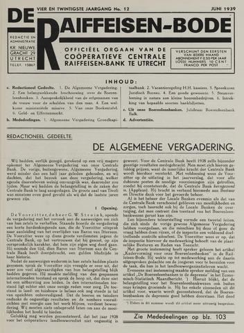 blad 'De Raiffeisen-bode' (CCRB) 1939-06-01