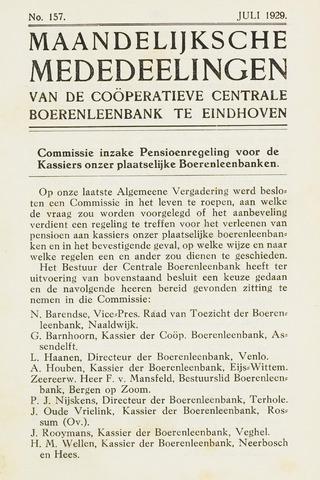blad 'Maandelijkse Mededelingen' (CCB) 1929-07-01