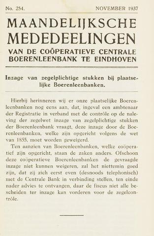 blad 'Maandelijkse Mededelingen' (CCB) 1937-11-01
